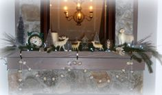 Cat & fiddle Studio My Christmas Mantle www.catandfiddlefolk.blogspot.com