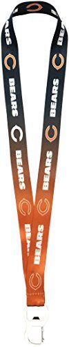 NFL Team Ombre Lanyard with Carabineer Style Bottle Opener and Soft Polyester Strap - Chicago Bears  http://allstarsportsfan.com/product/nfl-team-ombre-lanyard-with-carabineer-style-bottle-opener-and-soft-polyester-strap/?attribute_pa_teamname=chicago-bears  Officially licensed NFL product Ideal for holding keys, ID's, badges or tickets Fits comfortably around your neck