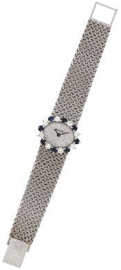 A sapphire and diamond wristwatch, by Bueche Girod #christiesjewels #watch