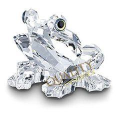 Swarovski Crystal Figurines   Swarovski Crystal Figurine #183113, Frog, Retired