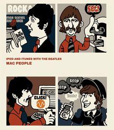 iPod, iTunes&THE BEATLESアイポッドとビートルズ似顔絵