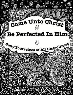 LDS NEST 2014 Mutual Theme B/W Printable-print and color in! has all ...