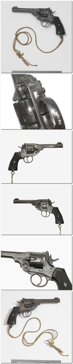 The Webley Mk V was the standard British service revolver at the outbreak of the First World War. It was one of a series of .455 inch calibre Webley revolvers which were the standard issue pistols of the British Army from 1887 onwards. They were robust and powerful weapons, which gave excellent service until replaced by the handier Enfield No 2 revolver (see FIR 385) in 1932.