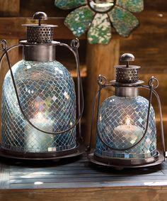 Blue Mosaic Lanterns