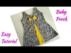 Baby Frock Cutting and Stitching/Front Panel Baby Frock Cutting and Stitching Kids Gown Design, Girls Frock Design, Kids Frocks Design, Baby Frocks Style, Baby Girl Frocks, Frocks For Girls, Baby Frock Pattern, Frock Patterns, Baby Dress Patterns