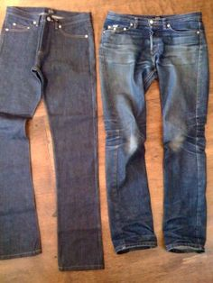 It's all about Raw Denim - you need some it you don't already.  -APC raw denim before and after