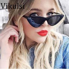 e87ce9af93  DealOfTheDay  BestPrice 2018 Fashion Retro Cat Eye Sunglasses Women Brand  Designer Vintage Black Red