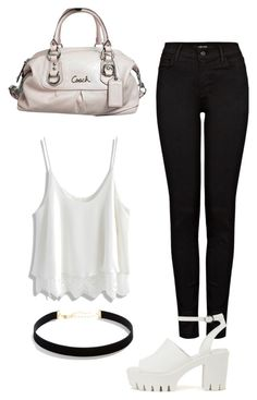 """""""Summer"""" by felisialuissela on Polyvore featuring Chicwish, J Brand, LULUS, Nly Shoes and Coach"""