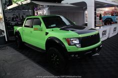 #Green Ford Raptor at #SEMA 2012