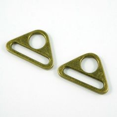 "Triangle Rings: 1"" (25 mm)  in Antique Brass (2 Pack)"
