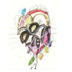100daysofabstractsketch: Day 25 / Masquerade