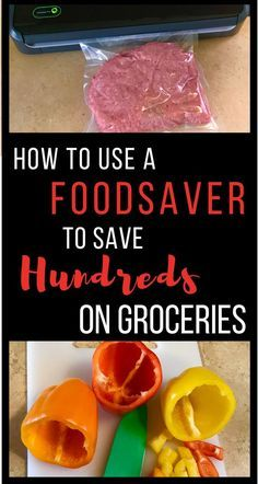 Foodsaver tips and tricks! How to use a Foodsaver vacuum sealer to stretch your grocery budget, and keep everything fresher longer! Canning Food Preservation, Preserving Food, Food Saver Vacuum Sealer, Freezing Vegetables, Save Money On Groceries, Canning Recipes, Drink Recipes, Freezer Meals, Food Storage