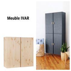 Ikea Hacks, Ivar Ikea Hack, Ikea Hack Bathroom, Ikea Bedroom, Bedroom Decor, Ikea Buffet, Flat Ideas, Dining Room Walls, Home Staging