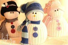NapadyNavody.sk   Ako vyrobiť úžasných snehuliakov z ponožky + inšpirácie