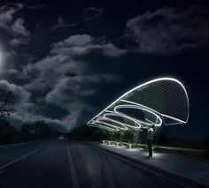 Would be cool with a bus stop like this
