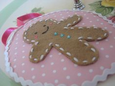 Gingerbread man ornament.