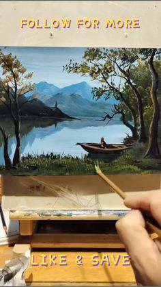 Acrylic Painting Tutorials, Painting Videos, Step By Step Painting, Step By Step Drawing, Scenery Paintings, Landscape Paintings, Drawing Techniques, Pictures To Paint, Lunch Smoothie