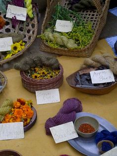 Natural dyes and their results @ the Johnny Appleseed festivals