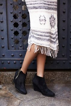 These shoes are now 50% off! Free People Orlanda Zip Wedge Boot at Free People Clothing Boutique