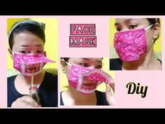 Facemask with opening for eating / diy facemask / facemask tutorial - YouTube