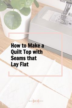 Ever gone to sew your quilt top together and realized your seams wouldn't line up? Seams lining up is the cherry on top of a beautifully made quilt top and it's not even hard to do! Continue reading to see this super quick and easy trick to nesting your seams for perfectly lined up seams every time! #QuiltingTips #Howtomakeaquilt #Quiltingtutorial Quilting 101, Free Motion Quilting, Quilting Tutorials, Easy Quilts, Quilt Top, Sewing Techniques, Good Advice, Quilt Making, Projects For Kids