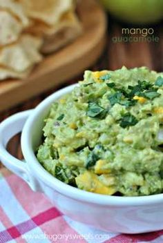 Mango Guacamole Recipe - perfect for Cinco de Mayo!