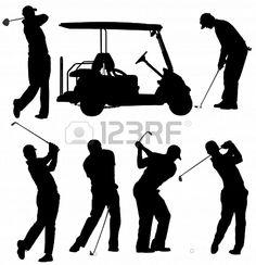 Buy Golf Player Silhouette by iamsania on GraphicRiver. Golf Player Silhouette on white background Golf Card Game, Dubai Golf, Masters Golf, Golf Art, Club Face, Photo Libre, Golf Player, Scroll Saw Patterns, Golf Gifts