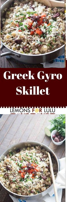 This Greek Gyro Skillet is a one pot meal the whole family will enjoy eating! Because it's an easy meal; you'll enjoy making it!