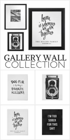 From the spectacular Zazzle collection, you'll love these amazing black & white gallery wall prints. Great for your home, your office, or to give as gifts. Browse through our selection & get lost in our art! #prints #artprints #wallart