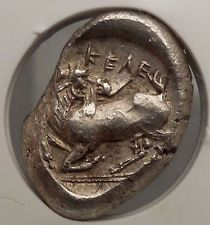 KELENDERIS CILICIA 425BC NGC MS Mint State Stater Goat Silver Greek Coin i53391