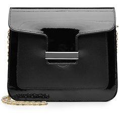 Vanessa Seward Patent Leather Shoulder Bag (£335) ❤ liked on Polyvore featuring bags, handbags, shoulder bags, flap handbags, chain strap purse, shoulder bag purse, shoulder hand bags and patent handbags