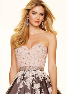 Fantastic Tulle Sweetheart Neckline Ball Gown Quinceanera Dresses With Lace Appliques & Beadings & Rhinestones