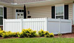 white dog ear fence