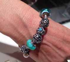 925 Sterling scintillante gouttelettes London Rose Fit European Charm Bead