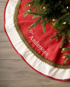 i love personalized tree skirts! might need to purchase this one!
