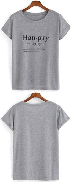 Grey short sleeve T Shirt Refashion. www. shein.com has a revamp section with different pieces of clothing she has remodeled with tutorials.