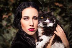 Elizabeth with cat