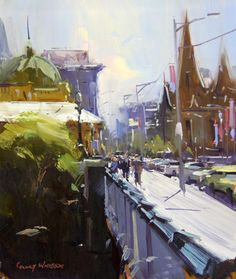 Learn landscape painting with Colley Whisson. Join his online course - study and learn on your time. Click to learn more. #onlineartschool