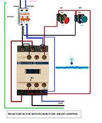 Esquemas eléctricos: Relé contactor con paro y marcha