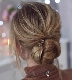 Messy Twisted Chignon Updo
