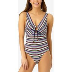 b51ade332e3 Anne Cole Plus Size Eyelet-Print One-Piece Swimsuit Women s Swimsuit