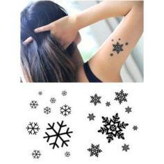 """Snowflake"" Temporary Tattoo Waterproof Body Tattoo Stickers 2pcs/set"