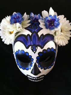 Day of the Dead Halloween Sugar Skull Mask by SuziLinden on Etsy, $60.00
