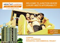 Arihant Aarohi  Kalyan Shill Road - 1 2 & 3 BHK Flats - 3 Towers, Stilt+18 Storeyed, Residential Cum Commercial Project Children's Play Area http://www.asl.net.in/arihant-aarohi.html #ArihantAarohi #RealEstate #Homes #Property #Residential #Commercial #KalyanShillRoad