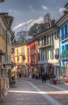 Pedestrian Area of Ascona, Ticino, Switzerland