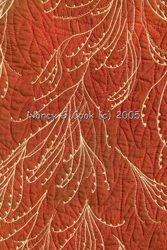 detail of stitching: Sourwood Festoons art quilt by Nancy G. Cook