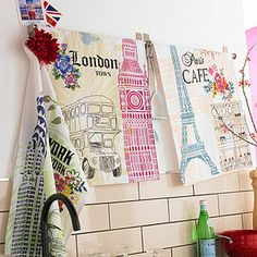City Tea Towels - Three Designs - kitchen