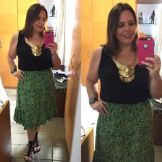 "146 curtidas, 7 comentários - Dani Oliveira (@eunaosoumodelo) no Instagram: ""Outfit of the day - look do dia 😃 #ootd #look #lookmeu #skirt #summerlook #fastfashion #fashionista…"""