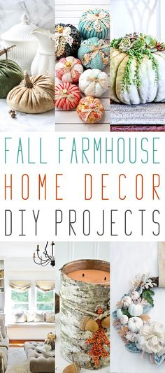 Fall Farmhouse Home Decor DIY Projects - The Cottage Market