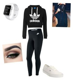 """""""I don't care"""" by breannawaltz14 on Polyvore featuring Topshop, NIKE and Vans"""